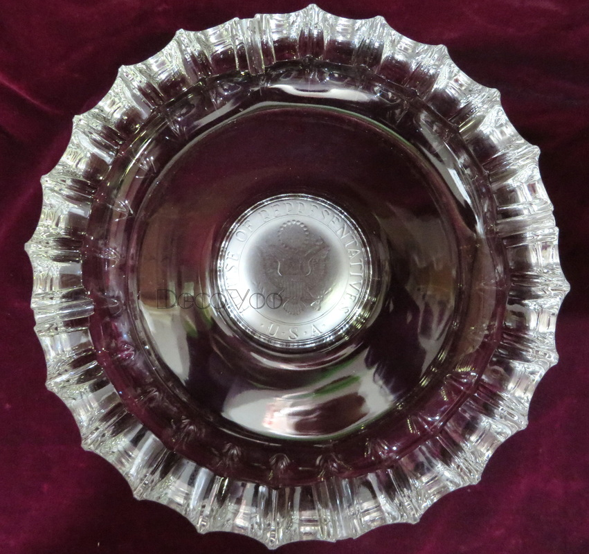 house of reps ashtray,crystal glass,vintage crystal,